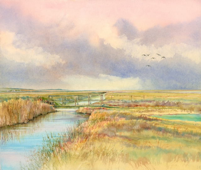 [Brents Over the old marsh bridge, Salthouse]