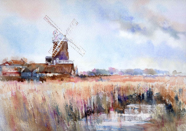 [Over The Marsh to Cley Windmill]