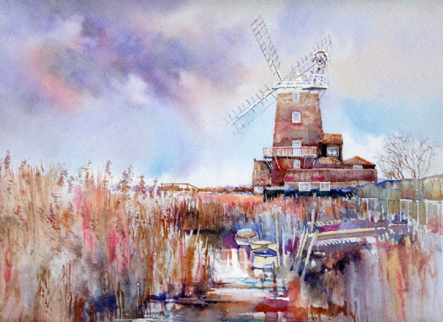 [Winter Sluice by Cley Windmill]