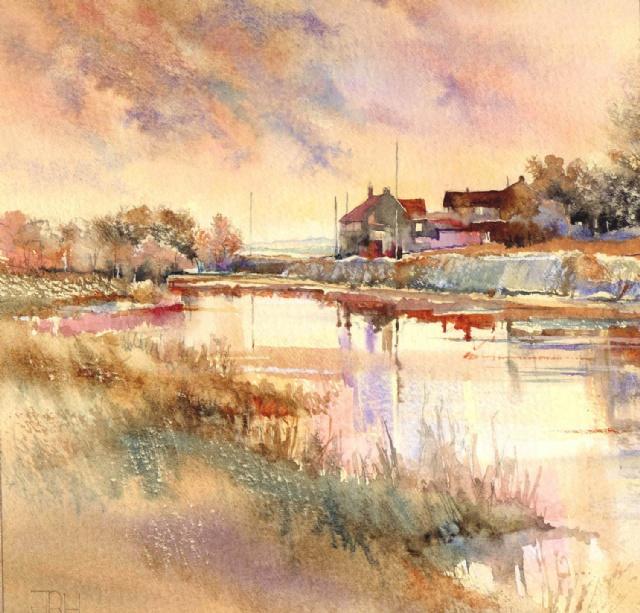 [Evening Draws Near, Springholes Pond, Salthouse]