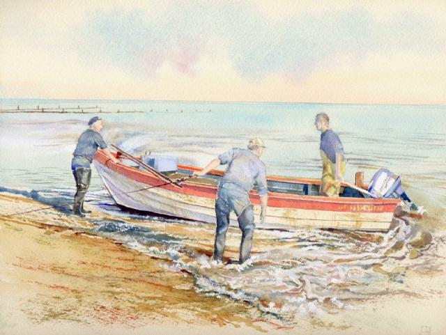 [Crab Boat Ashore, Sheringham]