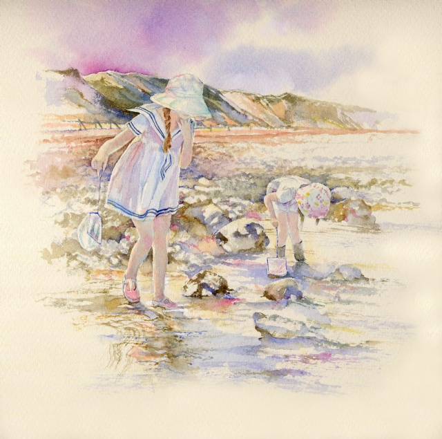[Rock Pool Children, West Runton]